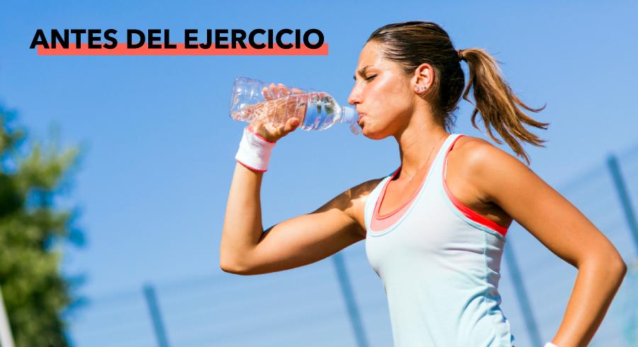 Beber agua antes del ejercicio